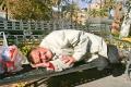 mendigo durmiendo en San frnacisco