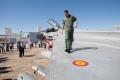 ejercito, base aérea de Talavera.Eurofighter y su piloto carrascosa en  acto Entrega de diplomas a los aféreces Alumnos fase de caza y ataque. nuevos pilotos.