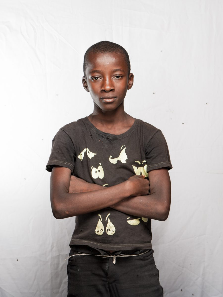 Shaka Bango, 12 years old. Street child.