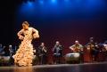 Grupo flamencos de badajoz en homenaje a La Quilla, en el teatro lopez de ayala, Victoria Vega, bailaora