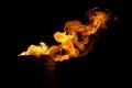 fuego de teas  en la obra de teatro en almossassa