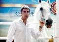pablo hermoso de mendoza junto a su caballo chicuelo en IFEBA Feria del Caballo y El Toro