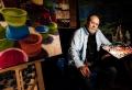retrato, entrevista, Ramon del arco, pintor, posando en su estudio