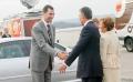 IX premio internacional puete de alcantara presidente de la republica portuguesa cavaco silva saluda principe felipe