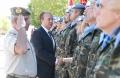 Base General Menacho acto militar de despedida mision internacional en Libano el General Jefe de Fuerza Terrestre José Ignacio Medina y presidente de la junta Monago