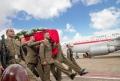 BAdajoz ,base arerea, llegada del cuerpo de Abel García Zambra, soldado fallecido en el Libano, ministro de Defensa, Pedro Morenés