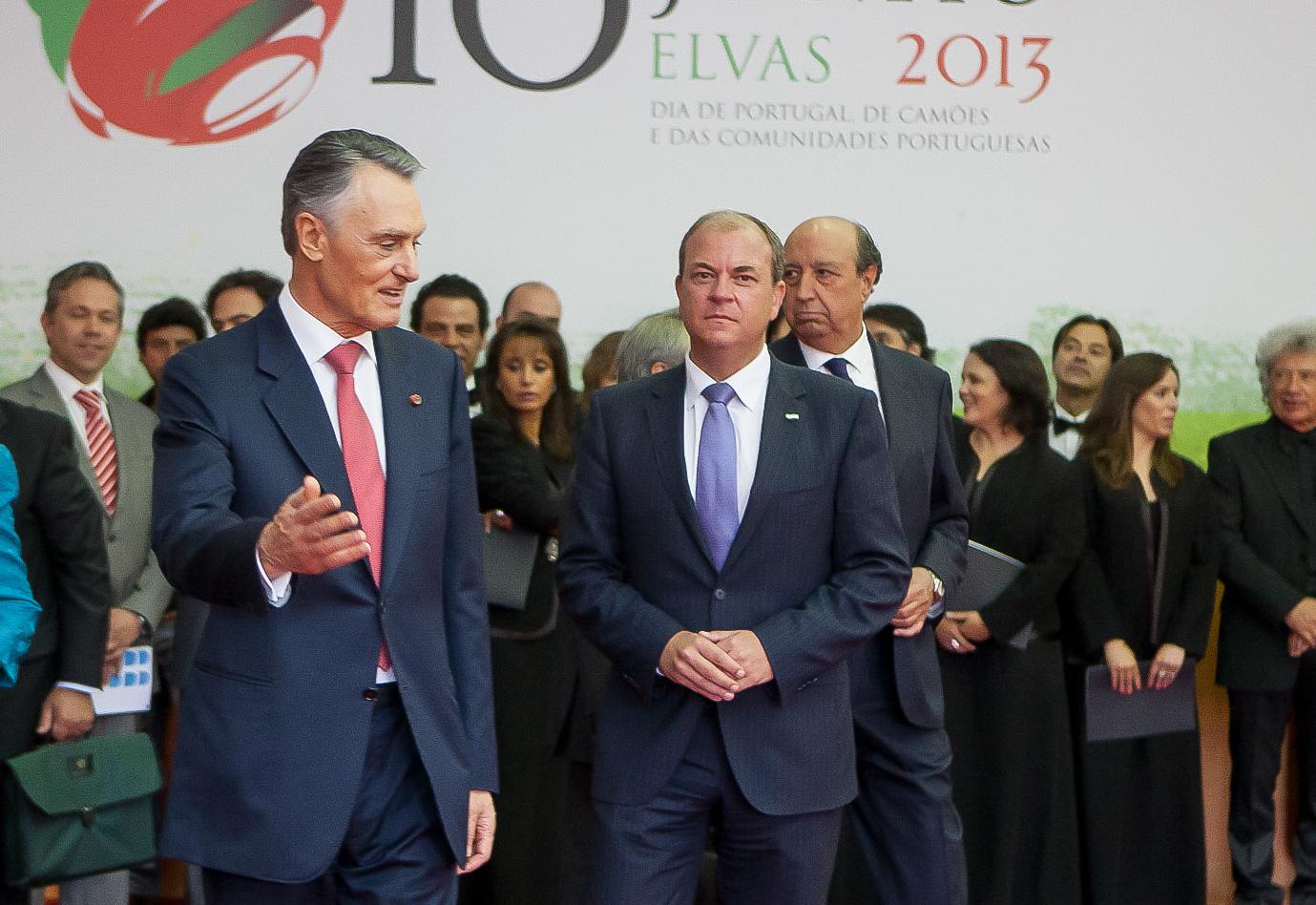 gobierno de extremadura monago asiste en Elvas, Portugal a los actos de celebracion del Dia de Portugal, presidente del  Anibal Cavaco Silva,