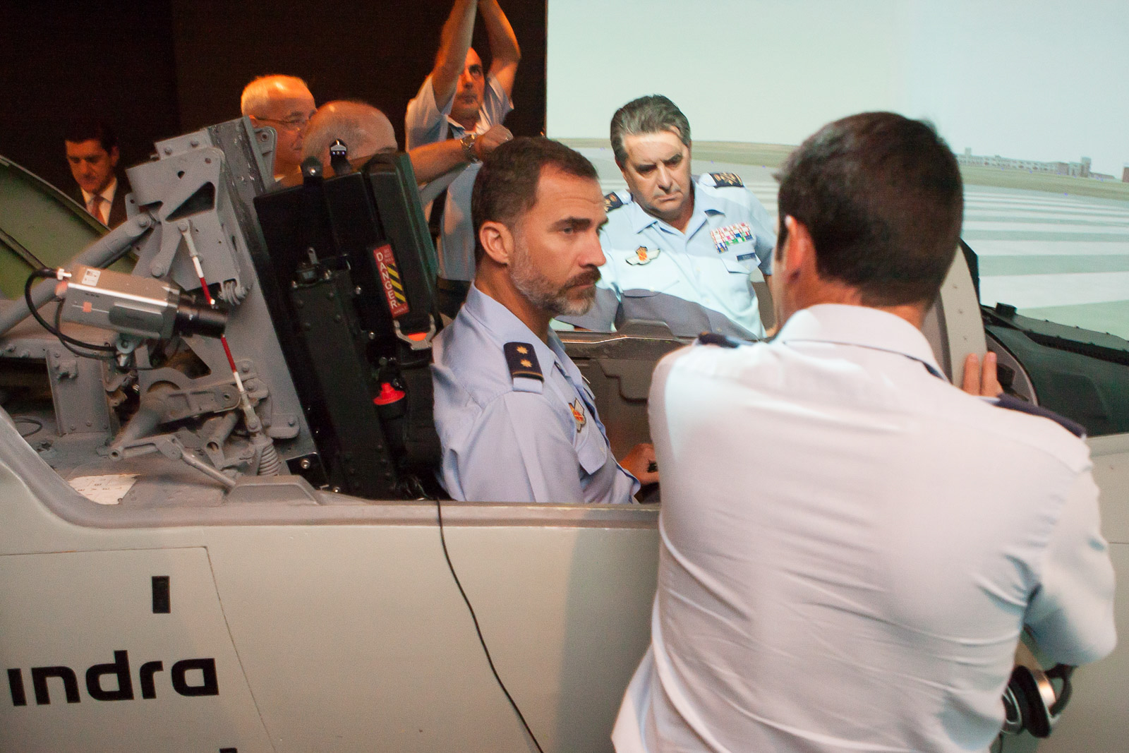 visita principe Felipe a base aerea de Talavera. Casa real