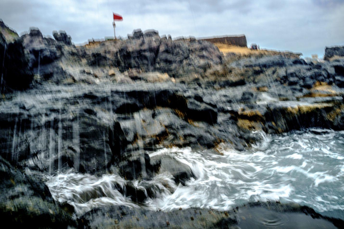 olas en el Confital, las palmas de gran canaria. mar